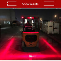 1pcs 30W Red Line LED Forklift Car Truck Warning Lamp DRL Safety Working Light #