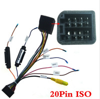 20Pin ISO Wiring Harness Connector With Rear Camera Adapter For Car Stereo Radio