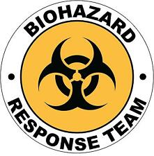 Hard Hat Biohazard Response Team Sticker Sign Decal 50mm Public Safety WHS OHS