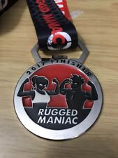Rugged Maniac 2017 Obstacle Mud Run Race Finisher Medal