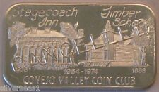 1974 USSC-166C CANCELLED ~ STAGECOACH INN ~CONEJO VALLEY COIN CLUB ~ SILVER BAR