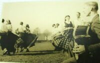Vintage Postcard Real Photo Folk Dancers 1930 RPPC mb234 celtic irish scottish ?