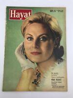 HAYAT #15 - Turkish Magazine - 1960s - MICHELE MORGAN COVER - S Dali