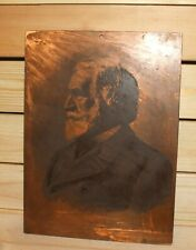 Ernesto Mancastroppa, Giuseppe Verdi, Vintage Italian engraving copper plaque