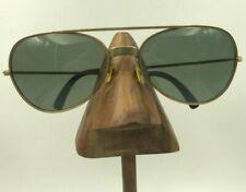 Vintage Cool Ray Polaroid 275 Gold Metal Aviator Sunglasses Eyeglasses Frames