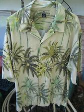 TOMMY BAHAMA Greenish Palm Bamboo Leaves XL Hawaiian SS Shirt
