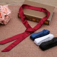 Clothes Accessory Vintage Women Long Real Silk  Skinny Scarf Stain Solid Tie