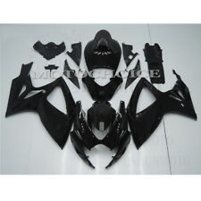 Black Fairing Kit Custom Fits Suzuki GSXR600 GSXR750 2006 2007 K6 ABS Injection