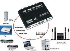 AC3/DTS 5.1 Canal Estéreo Óptica Audio Digital a Analógico Coaxial RCA Adaptador