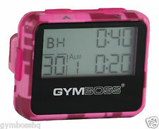 GYMBOSS INTERVAL TIMER AND STOPWATCH PINK CAMO / PINK GLOSS SHIPPED FROM CANADA