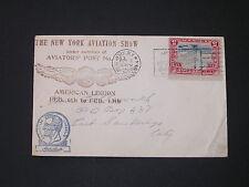 New York Aviation Show AVIATOR POST 743 American Legion Feb 12 1929 CACHET COVER