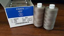 Thread Coats Epic 120 , Nahgarn Starke, 100% Polyester Corespun, Col: 09443 Gray
