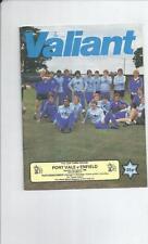 Port Vale Teams O-R Football FA Cup Fixture Programmes