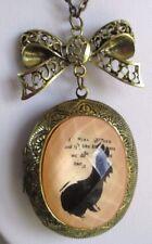 grand collier pendentif bijou vintage couleur vieil or ovale porte photo 656