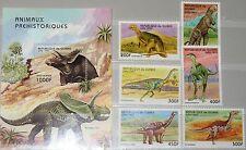 Guinea 1997 1709-14 bloque 517 1417-1423 Prehistoric Animals dinosaurs fauna mnh