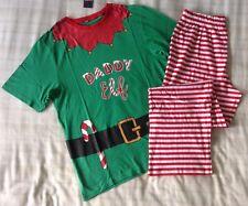 Mens 'Daddy Elf' Santa's Helper Christmas PJ's Set/Pyjamas/Loungewear ~ Medium *