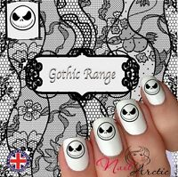 40 x Nail Art Water Transfers Stickers Wraps Decals Gothic Goth Jack