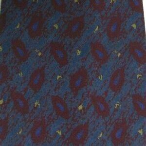 "Blue Red Paisley FENDI Silk Tie3.7"" Wide 58"" Long"