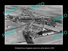 OLD LARGE HISTORIC PHOTO OF WICKFORD ESSEX ENGLAND, DISTRICT AERIAL VIEW c1950