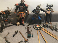 Lot 4 McFarlane 2001 Spawn Series 19 Dark Ages The Samurai Wars Figures BROKEN