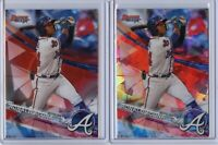 2017 Bowman's Best RONALD ACUNA JR ATOMIC Refractor + Base Card - Atlanta Braves
