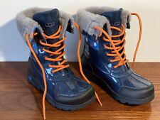 Ugg Kids Waterproof Boots UK 1-2 EU 32-33 Blue / Black New