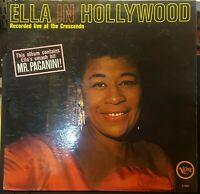 ELLA FITZGERALD HOLLYWOOD LP VG+/VG+ VERVE MONO V-4052 LIVE CRESCENDO PAGANINI