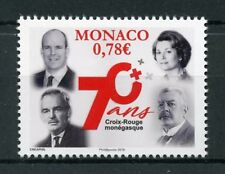 Monaco 2018 MNH Monegasque Red Cross 70th Anniv 1v Set Medical Health Stamps