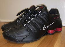 Nike Shox NZ Black Varsity Red Shoes 378341 022 Men's Size 11.5