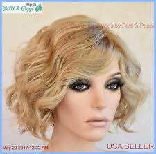 Sweet Talk Gabor Wigs  Color GL1627ss Rooted Blond Authentic Short Beachy Waves