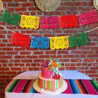 9pcs Mexican Party Flag Banner Garland Wedding Birthday Party Mexican Decoration