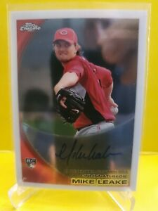 2010 Topps Chrome Rookie Autographs Auto #176 Mike Leake RC - Reds