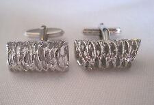 Vintage Silver-Tone Cufflinks, New Old Stock, Unusual Design