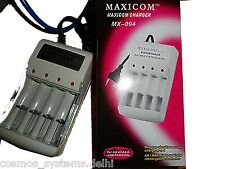 Maxicom Quick Cell Battery Charger for AA AAA Rechargeable Batteries