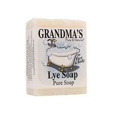 Remwood Products Lot of Six (6) Six Oz Bars of Grandma's Pure Lye Soap 60018