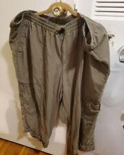 Lane Bryant Plus Cargo Pull On Capri Pants Cotton Blend gray size 22