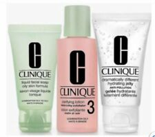 Clinique 3 Step Facial Set Oily Skin Soap Clarifying Lotion Hydrating Jelly