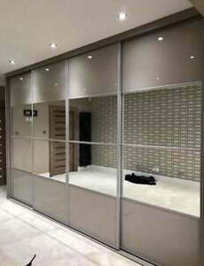 Sliding Wardrobe Mirror Glass Panel Doors. Made To Measure. Custom Design