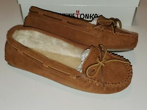Minnetonka CALLY  4013  Brown suede moccasin slippers WOMEN'S SIZE 11