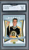 GMA 10 Gem Mint DAVID KREJCI 2007/08 Upper Deck MVP ROOKIE CARD Boston Bruins!