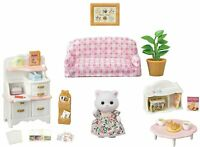 Sylvanian Families PERSIAN CAT GIRL FURNITURE SET SE-195 Epoch Calico Critters
