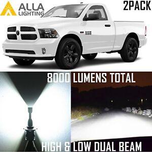 9004 HB1 LED hd-light  for Dodge RAM 1500 2500 3500 1999-2002 hi   lo  Beam Bulb