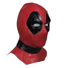 X-Men Deadpool Mask Balaclava Halloween Hood Cosplay Full Face Latex Mask Long