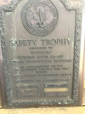 Old 1943-45 Collectible Bronze Safety Trophy Plaque Baltimore Gas & Electric Co