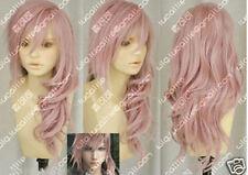Hot Sell! Final Fantasy Lightning Srah New Long Mix Pink Cosplay Wig++
