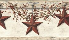 Hanging Star Border Hk4664Bd wallpaper country red brown SureStrip prepasted