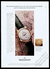 1995 Jaeger LeCoultre Master Date watch color photo vintage print ad