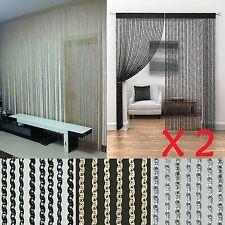 2 X Rideaux Tassel fils a glitter cordes porte fenêtre frange Panneau curtain