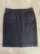 Theory Classic Cotton Pencil Skirt Black 4