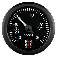 Pila Turbo Boost presión mecánica Calibre -30 inHg a 30 Psi-Negro